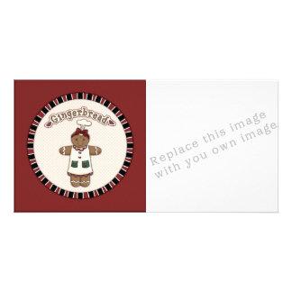 Cute Gingerbread Girl Card