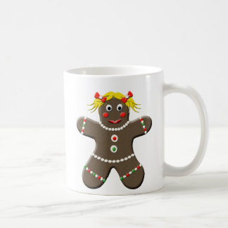 Cute Gingerbread Girl Christmas Coffee Mug