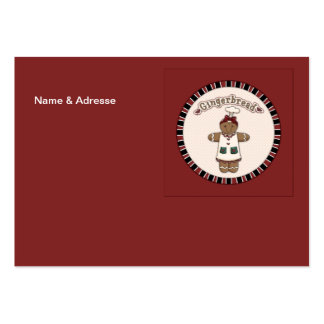 Cute Gingerbread Girl Large Business Card