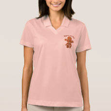 Cute Gingerbread Girl Polo Shirt
