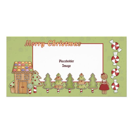 Cute Gingerbread House and Trees Card