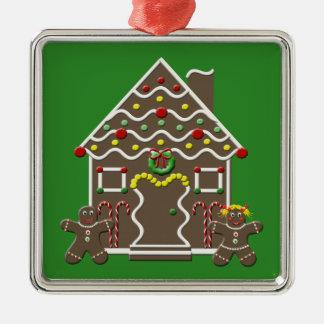 Cute Gingerbread House Christmas Tree Ornament