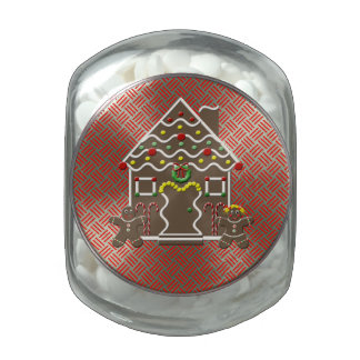 Cute Gingerbread House Festive Christmas Treats Jelly Belly Candy Jars
