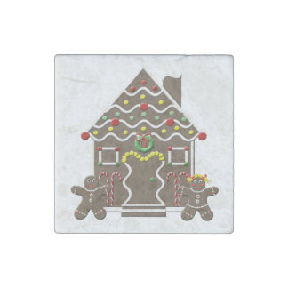 Cute Gingerbread House Gingerbread Couple Stone Magnet