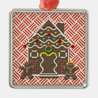 Cute Gingerbread House Gingerbread Man Girl Xmas Metal Ornament
