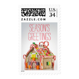 Cute Gingerbread House Postage