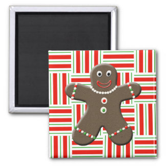 Cute Gingerbread Man Boy Christmas Red White Xmas Fridge Magnets