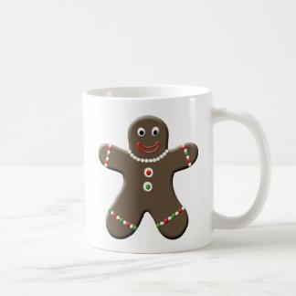 Cute Gingerbread Man Christmas Coffee Mug