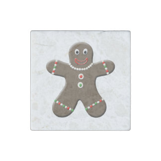Cute Gingerbread Man Christmas Gingerbread Boy Stone Magnet