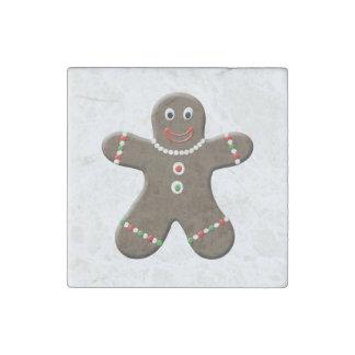 Cute Gingerbread Man Christmas Gingerbread Boy Stone Magnet