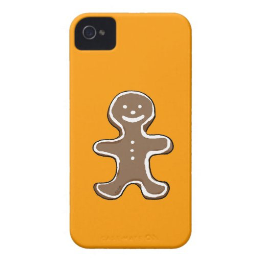 Cute gingerbread man cookie iPhone 4 Case-Mate cases