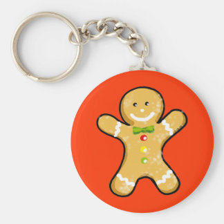 Cute gingerbread man cookie keychain