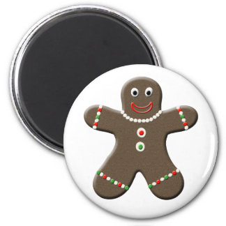 Cute Gingerbread Man Holiday Kitchen Magnet