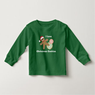 Cute Gingerbread Man, I Love Christmas Cookies Toddler T-shirt