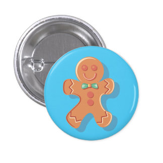 Cute Gingerbread Man Pin