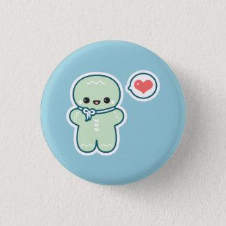 Cute Gingerbread Man Pinback Button