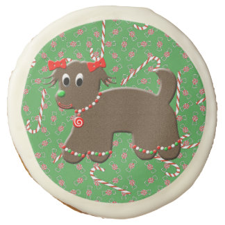 Cute Gingerbread Puppy Dog Cookie Candy Christmas