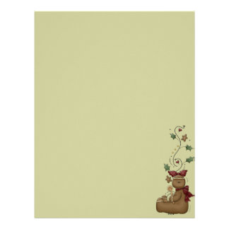 Cute Gingerbread Recipe Page Letterhead Design