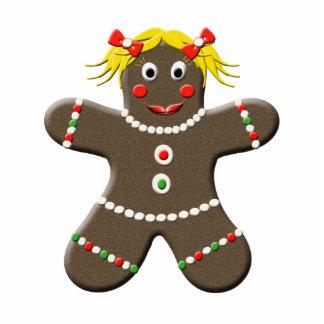 Cute Gingerbread Woman Christmas Kitchen Magnet Photo Sculpture