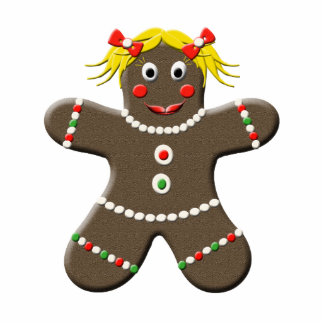 Cute Gingerbread Woman Christmas Pin Statuette