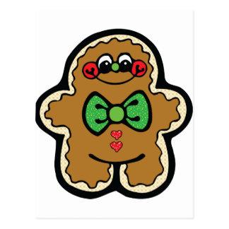 cute gingerbreadman postcard