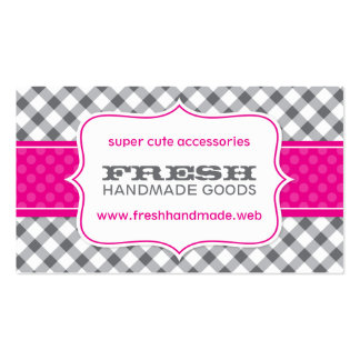 Cute Gingham Professional Business Card