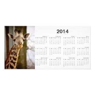 Cute Giraffe 2014 Calendar Photo Card