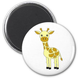 Cute Giraffe 2 Inch Round Magnet