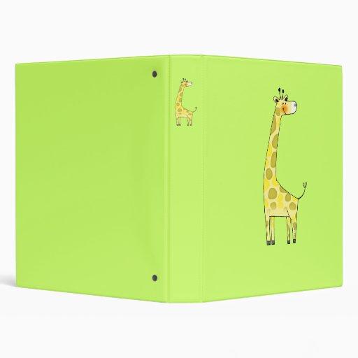 Cute giraffe 3 ring binder