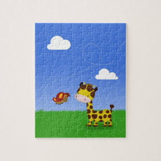 Cute Giraffe and Butterfly - Puzzle