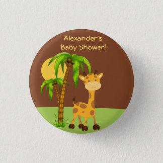Cute Giraffe  Baby Shower Button