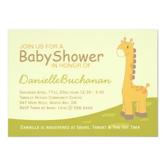 Cute Giraffe Baby Shower Invitation