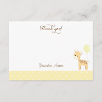 Cute Giraffe Baby Shower Thank You Card