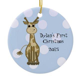 Cute Giraffe Baby's First Christmas