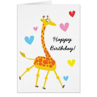 Cute Giraffe Birthday Card