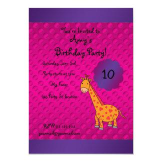 "Cute giraffe birthday invitation 5"" x 7"" invitation card"