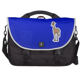 Cute Giraffe Blue Bag For Laptop