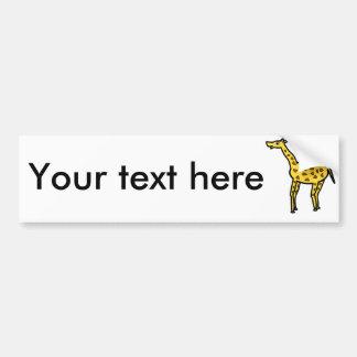 Cute giraffe car bumper sticker