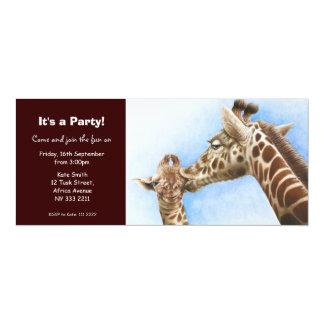 Cute Giraffe & Calf Party Invitation