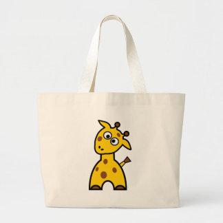 Cute Giraffe Canvas Bags