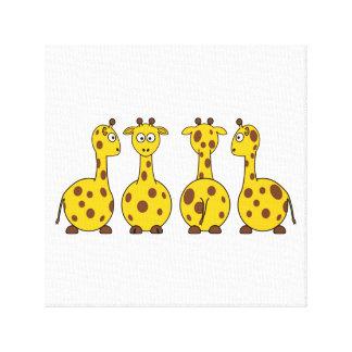 Cute Giraffe Cartoon Canvas Print