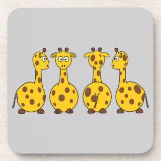 Cute Giraffe Cartoon Coasters