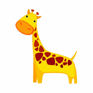 Cute giraffe cartoon cutout