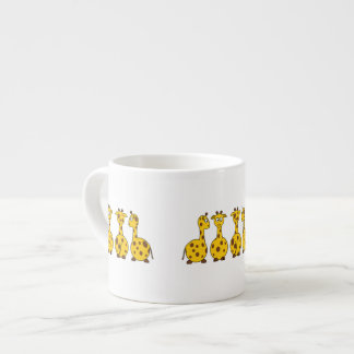 Cute Giraffe Cartoon Espresso Cup