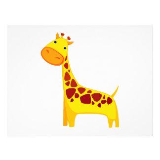 Cute giraffe cartoon flyer