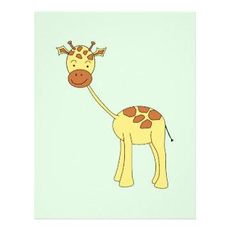 Cute Giraffe. Cartoon. Flyer Design