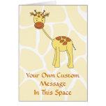 Cute Giraffe. Cartoon. Greeting Card