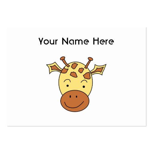 Cute Giraffe Cartoon. Large Business Card