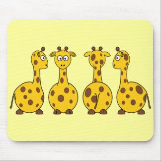 Cute Giraffe Cartoon Mouse Pad