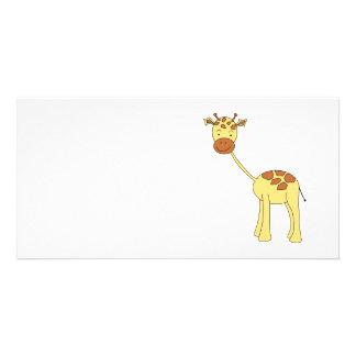 Cute Giraffe. Cartoon. Photo Cards